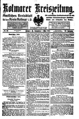 Kolmarer Kreiszeitung vom 01.03.1913