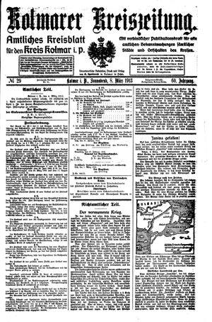 Kolmarer Kreiszeitung vom 08.03.1913