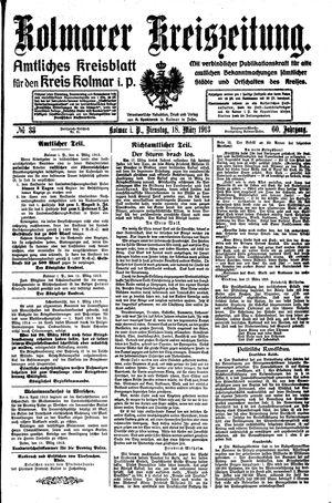 Kolmarer Kreiszeitung vom 18.03.1913