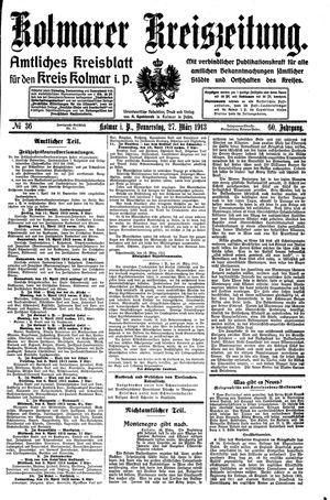 Kolmarer Kreiszeitung vom 27.03.1913