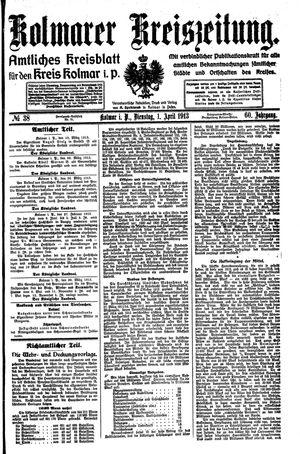 Kolmarer Kreiszeitung vom 01.04.1913
