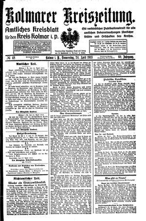 Kolmarer Kreiszeitung vom 24.04.1913
