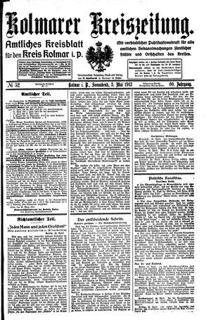 Kolmarer Kreiszeitung vom 03.05.1913