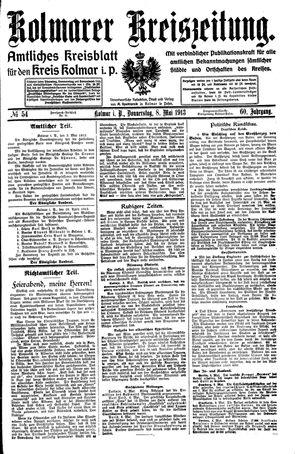 Kolmarer Kreiszeitung vom 08.05.1913