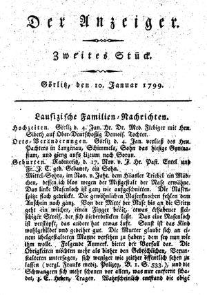 ˜Derœ Anzeiger vom 10.01.1799