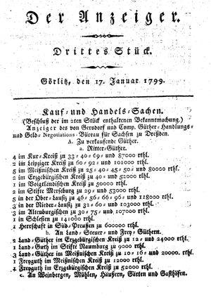 ˜Derœ Anzeiger on Jan 17, 1799