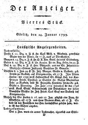 ˜Derœ Anzeiger vom 24.01.1799