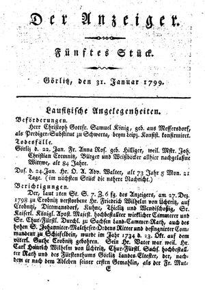 ˜Derœ Anzeiger vom 31.01.1799
