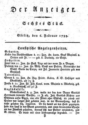 ˜Derœ Anzeiger on Feb 6, 1799