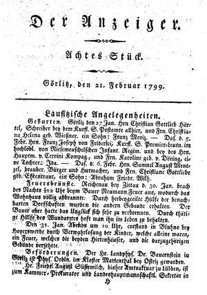 ˜Derœ Anzeiger vom 21.02.1799