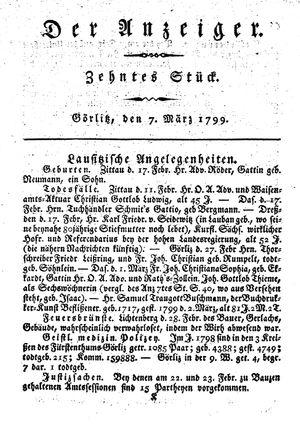 ˜Derœ Anzeiger vom 07.03.1799