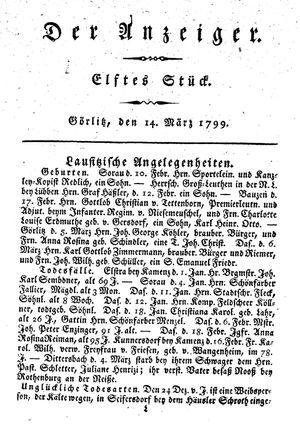 ˜Derœ Anzeiger vom 14.03.1799