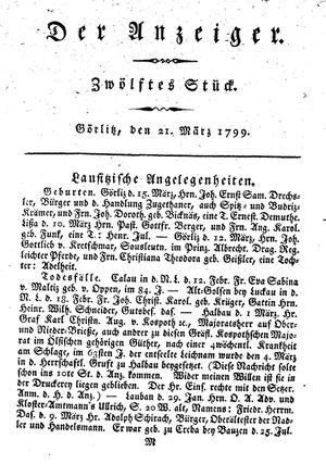 ˜Derœ Anzeiger vom 21.03.1799