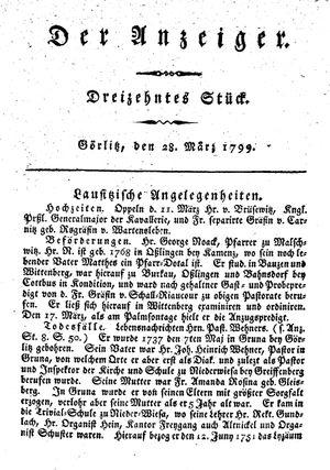 ˜Derœ Anzeiger vom 28.03.1799