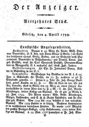 ˜Derœ Anzeiger vom 04.04.1799