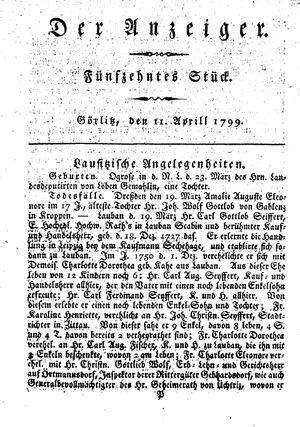 ˜Derœ Anzeiger vom 11.04.1799