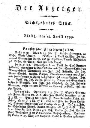 ˜Derœ Anzeiger vom 18.04.1799