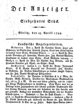 ˜Derœ Anzeiger vom 25.04.1799