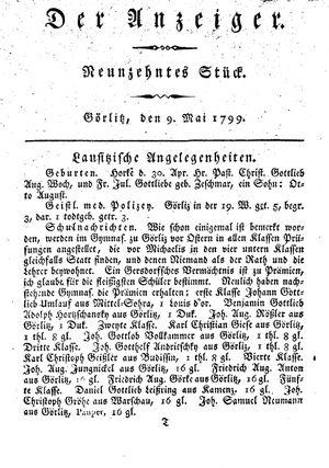˜Derœ Anzeiger vom 09.05.1799