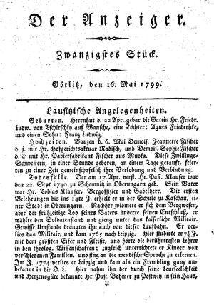 ˜Derœ Anzeiger vom 16.05.1799