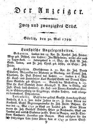 ˜Derœ Anzeiger vom 30.05.1799