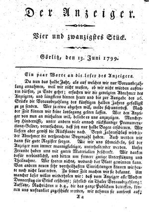 ˜Derœ Anzeiger vom 13.06.1799