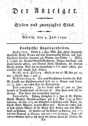 ˜Derœ Anzeiger vom 04.07.1799