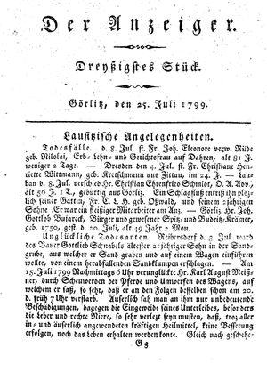 ˜Derœ Anzeiger vom 25.07.1799