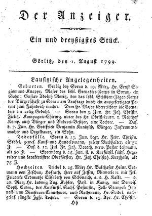 ˜Derœ Anzeiger vom 01.08.1799