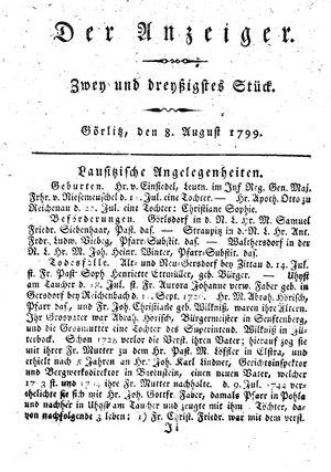 ˜Derœ Anzeiger vom 08.08.1799