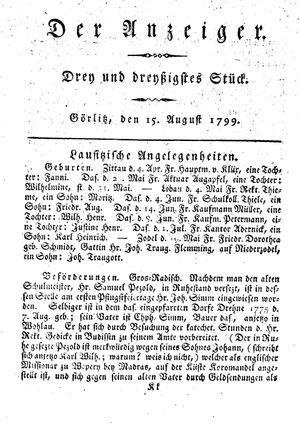 ˜Derœ Anzeiger vom 15.08.1799