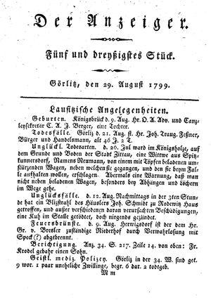 ˜Derœ Anzeiger vom 29.08.1799