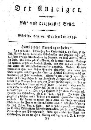 ˜Derœ Anzeiger vom 19.09.1799