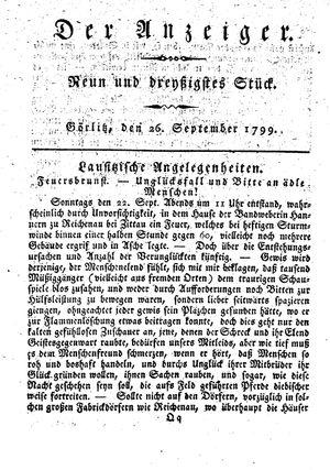 ˜Derœ Anzeiger on Sep 26, 1799