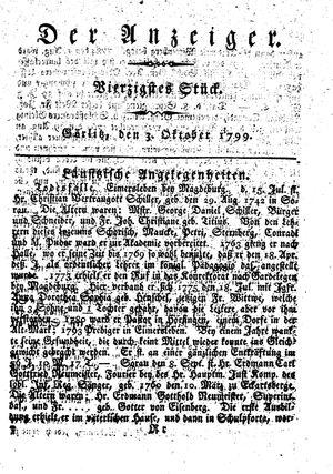˜Derœ Anzeiger vom 03.10.1799