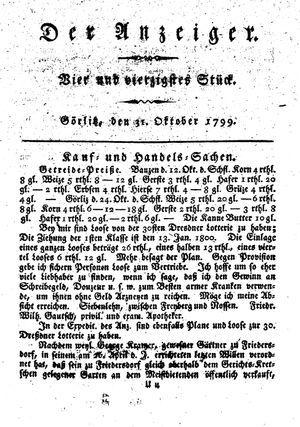 ˜Derœ Anzeiger on Oct 31, 1799