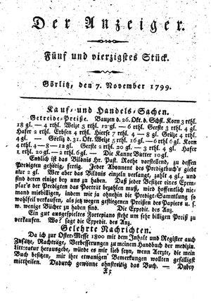 ˜Derœ Anzeiger vom 07.11.1799