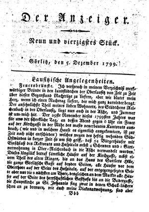 ˜Derœ Anzeiger vom 05.12.1799