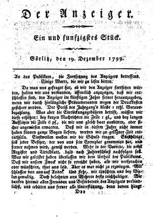 ˜Derœ Anzeiger vom 19.12.1799