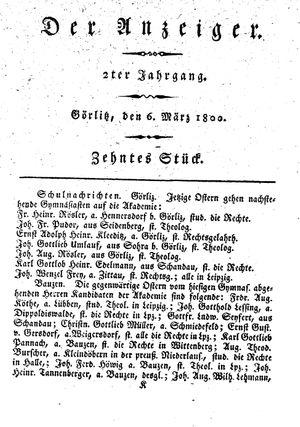 ˜Derœ Anzeiger on Mar 6, 1800