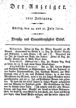˜Derœ Anzeiger vom 24.07.1800