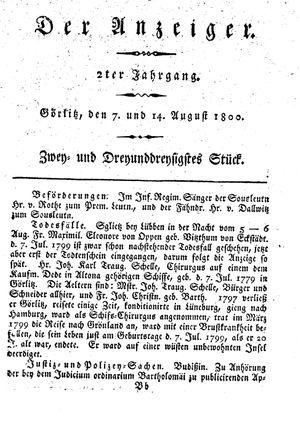 ˜Derœ Anzeiger on Aug 7, 1800