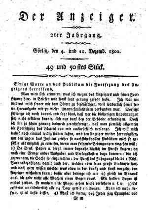 ˜Derœ Anzeiger vom 04.12.1800