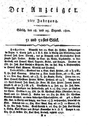 ˜Derœ Anzeiger vom 18.12.1800