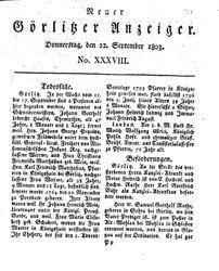 Neuer Görlitzer Anzeiger (22.09.1803)