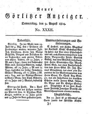 Neuer Görlitzer Anzeiger vom 09.08.1804