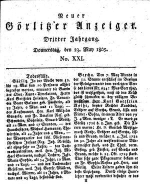 Neuer Görlitzer Anzeiger vom 23.05.1805