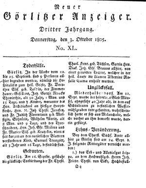 Neuer Görlitzer Anzeiger vom 03.10.1805