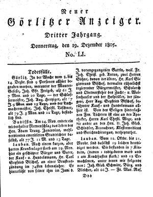 Neuer Görlitzer Anzeiger vom 19.12.1805