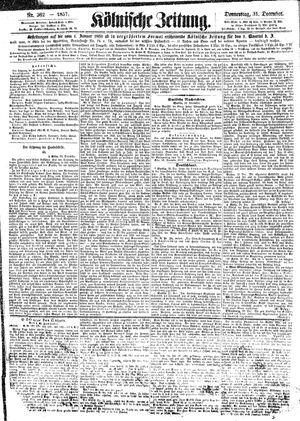 Kölnische Zeitung vom 31.12.1857